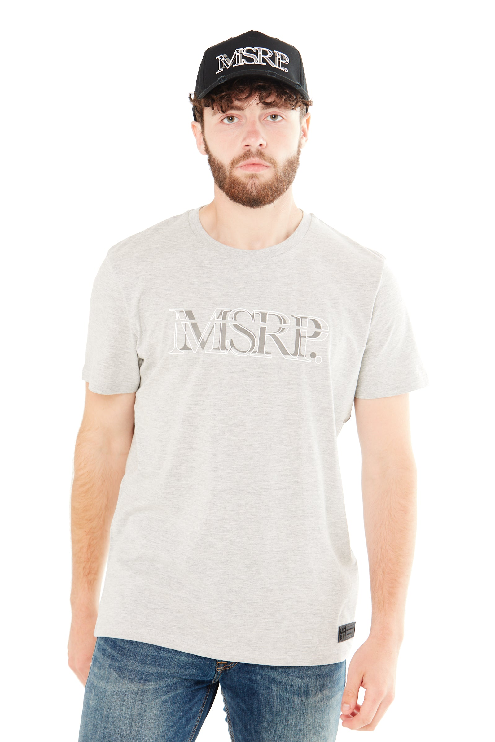 White Offset MSRP T-Shirt (Grey)