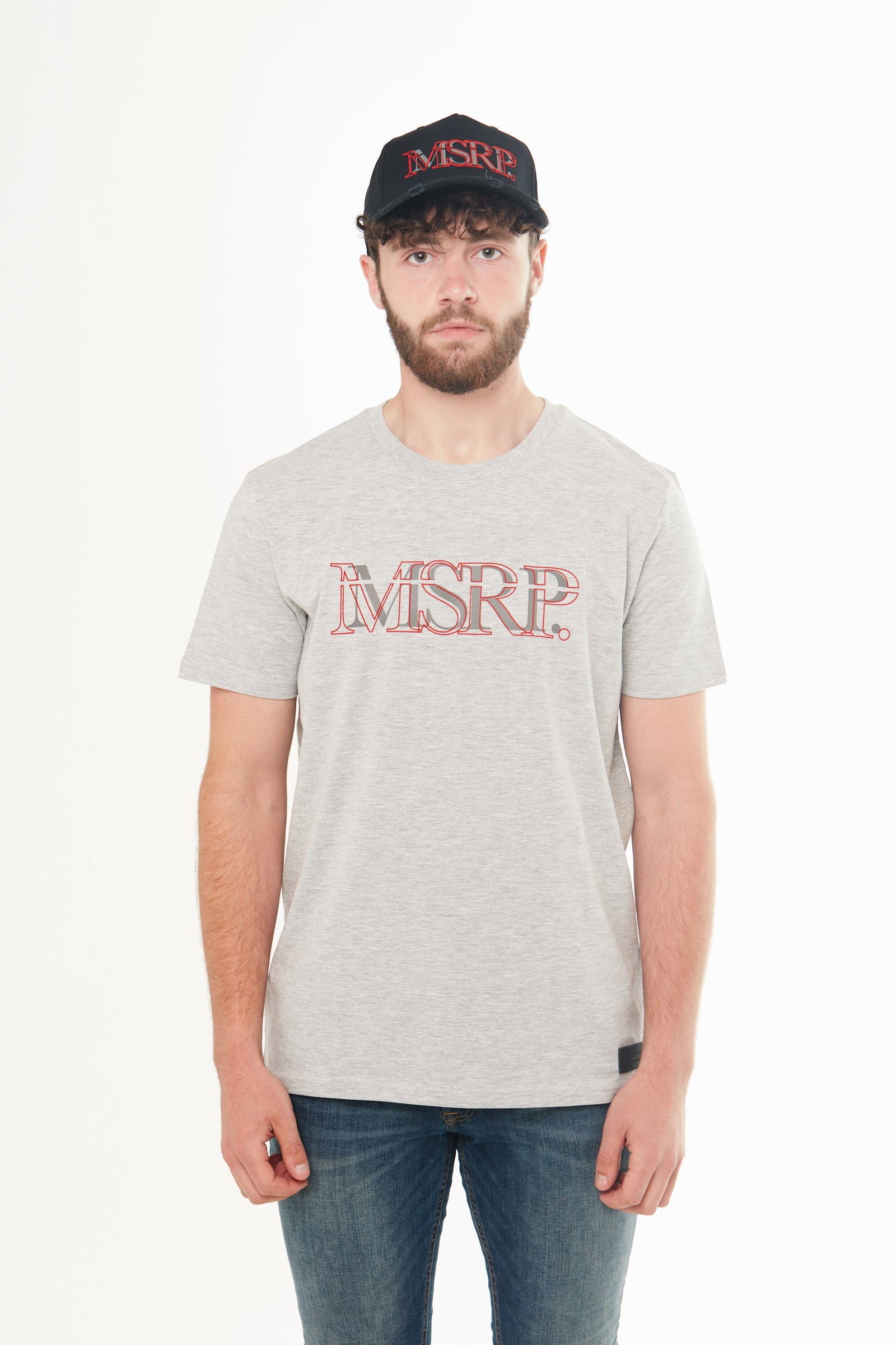 Red Offset MSRP T-Shirt (Grey)