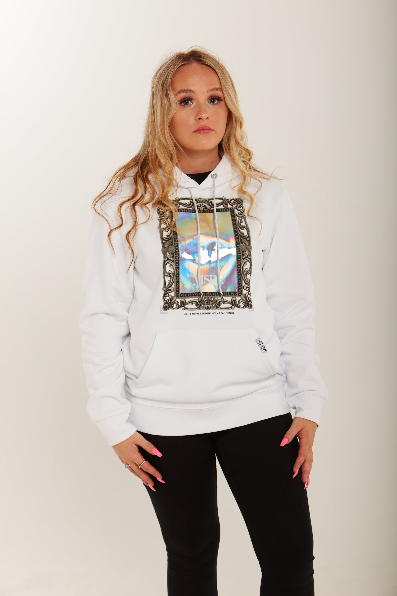 Looking Glass Hoodie (White)