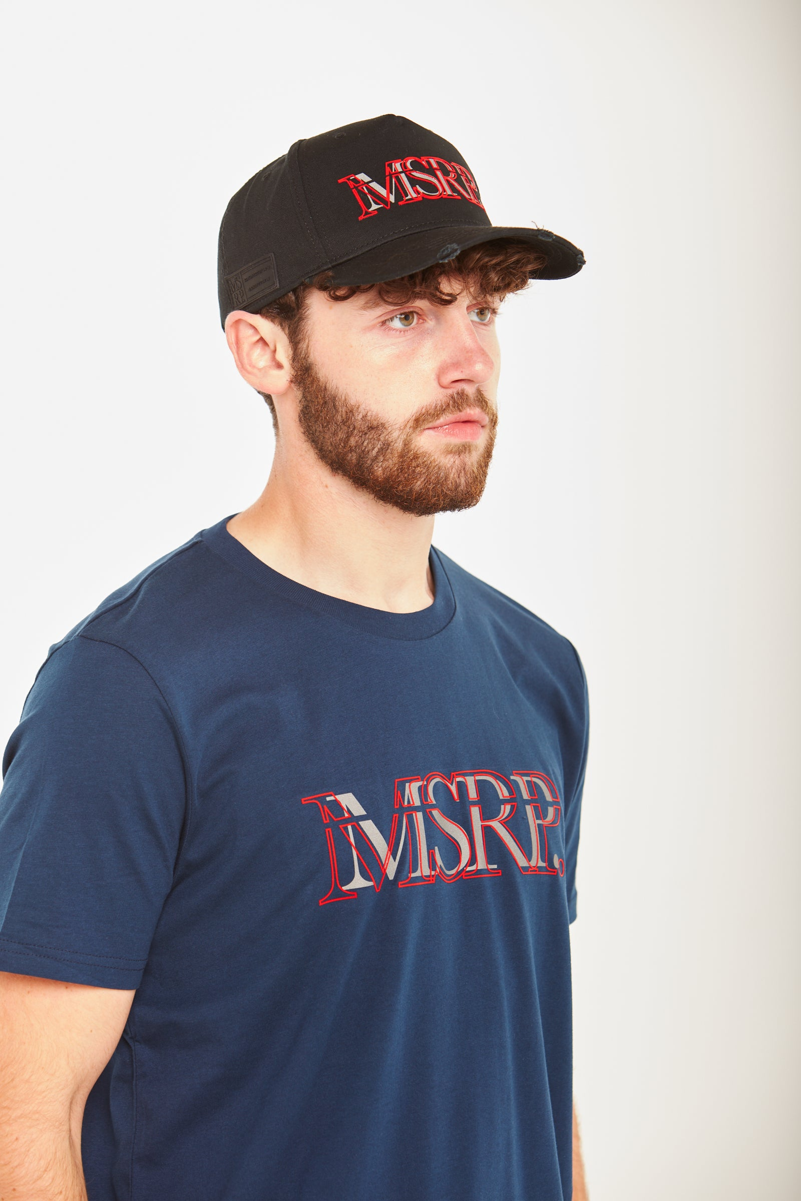 Red Offset MSRP T-Shirt (Navy)