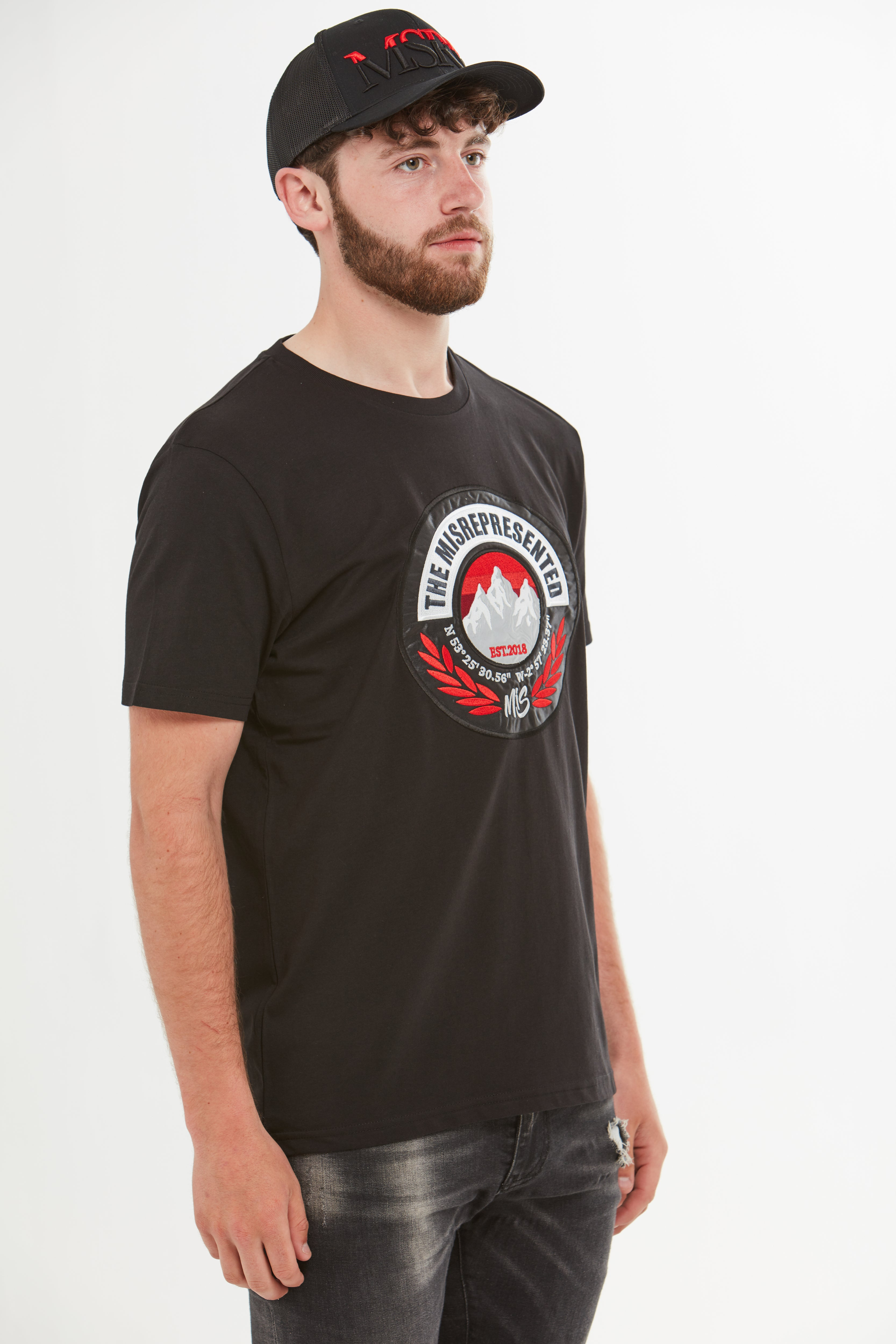 Red Mountain Badge T-Shirt (Black)