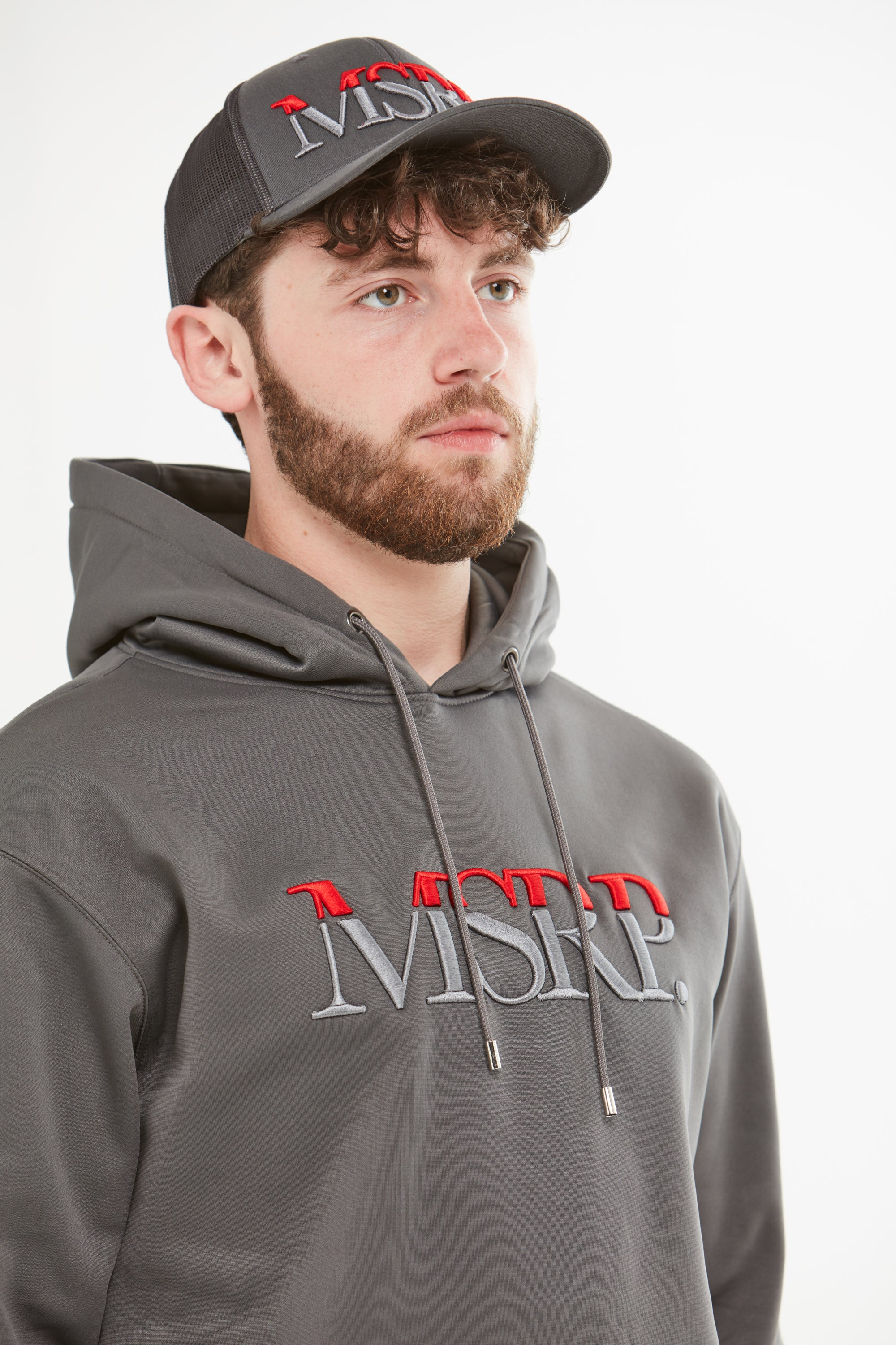 MSRP Embroidered Hoodie (Red/Grey) (Slate Grey) (Soft Shell)