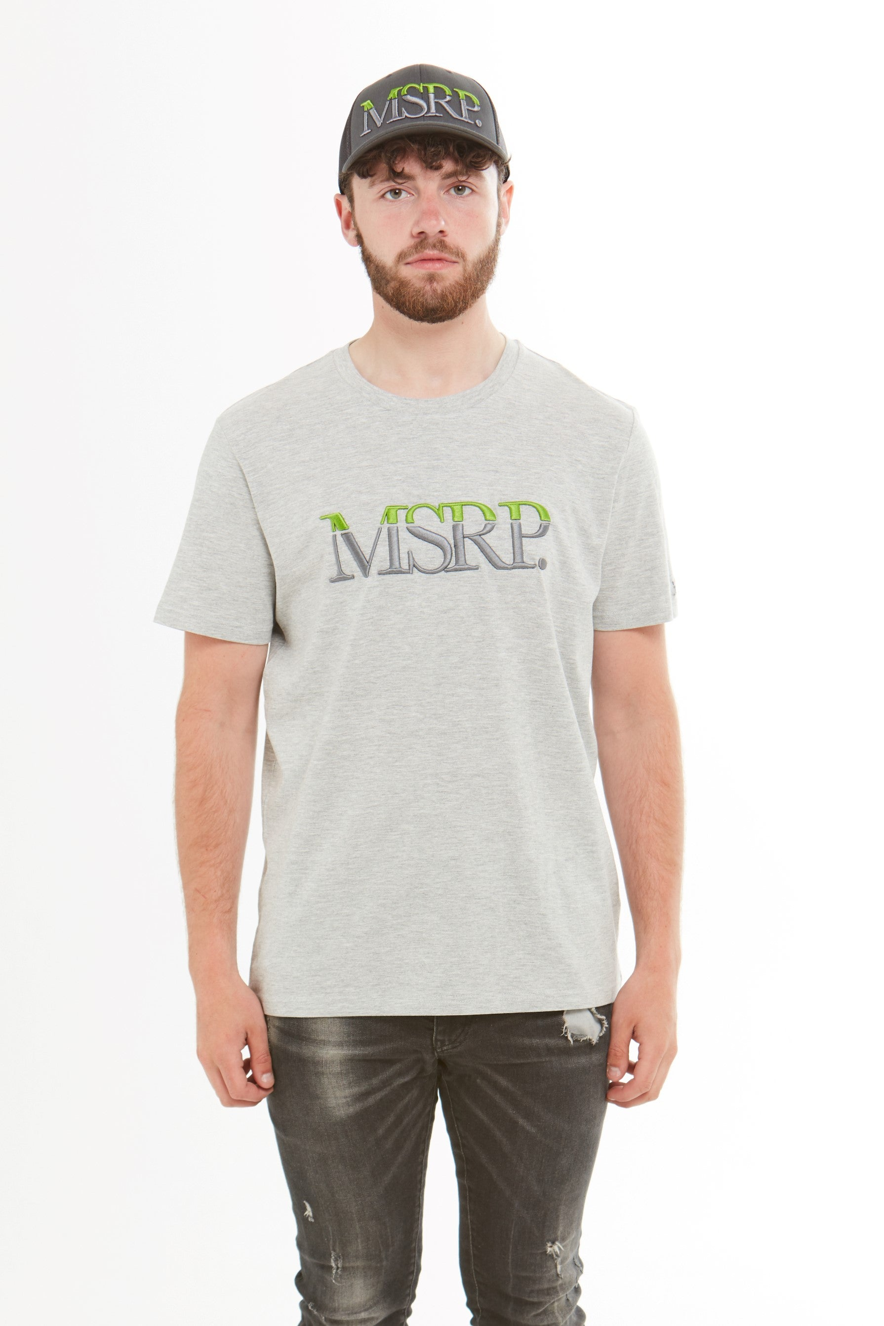 MSRP Embroidered T-Shirt (Lime/Grey) (Grey)