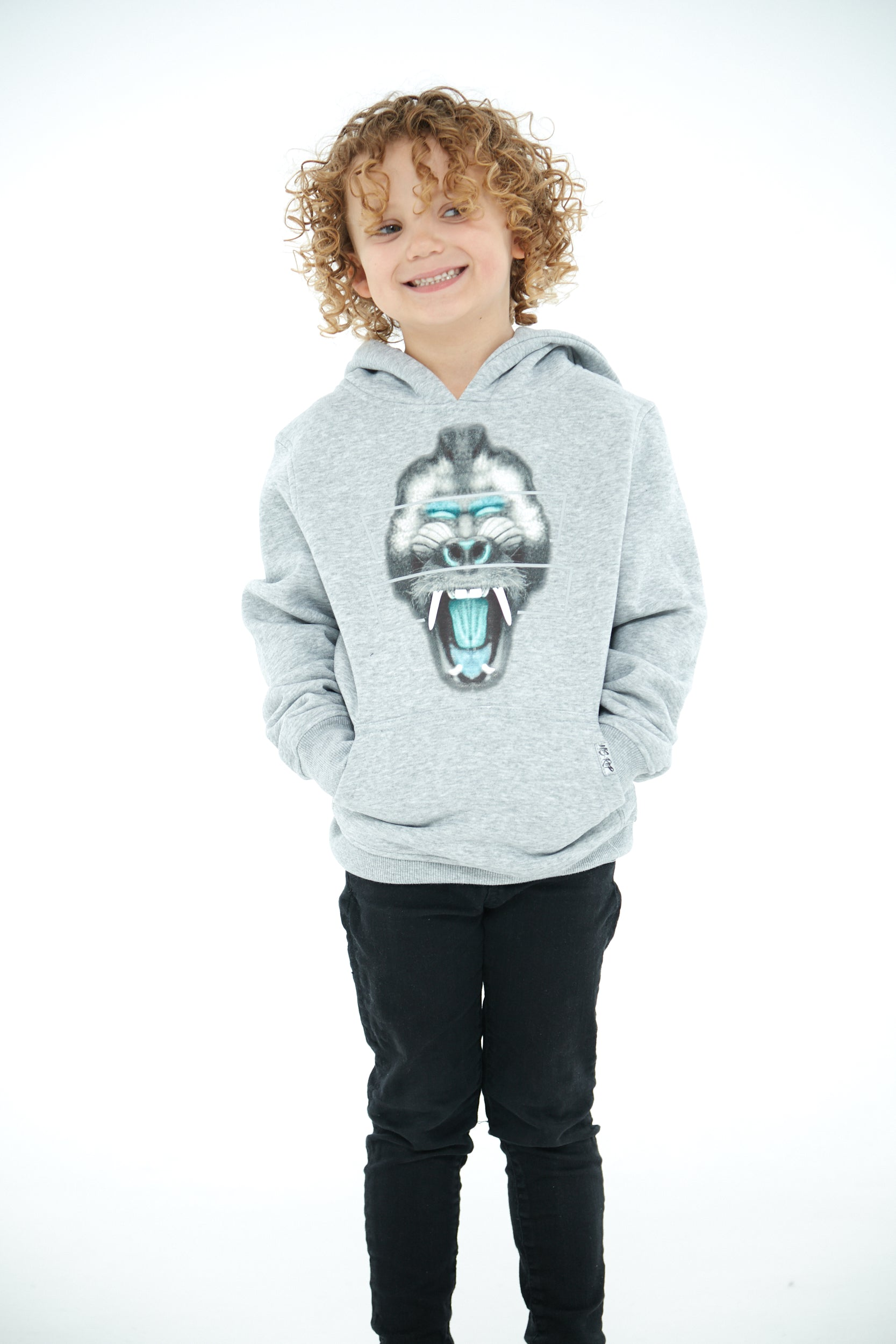 Junior Mandrill Hoodie (Mid-Grey)