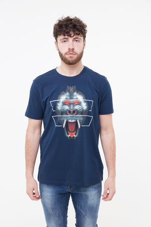Red Mandrill T-Shirt (Navy)