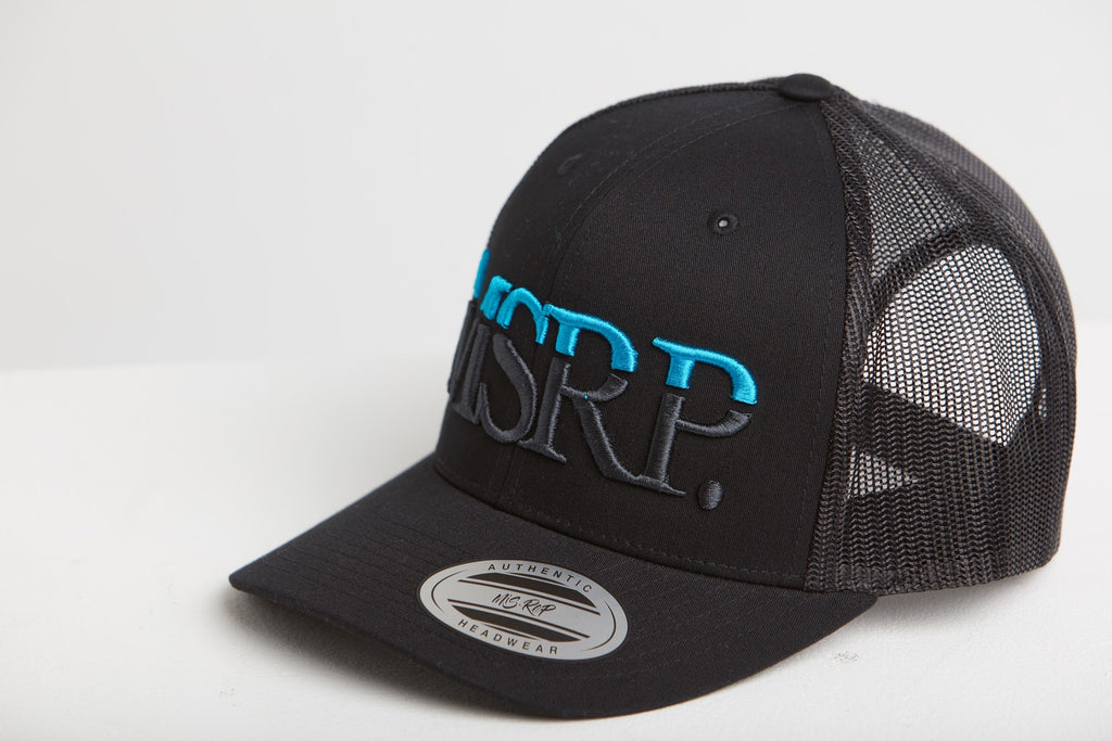 MSRP Logo Cap Black (Cyan/Grey)