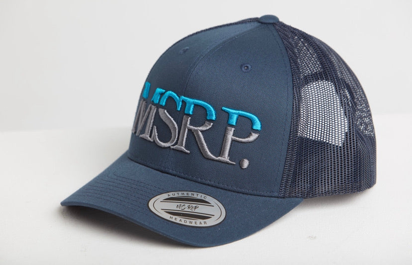 MSRP Logo Cap Navy (Cyan/Grey)