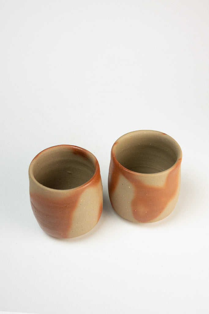 Set of two Bizen cups