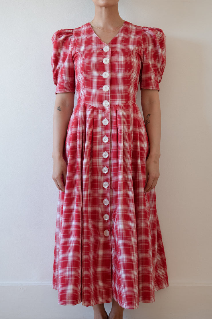 NOSTALGIA DRESS RED