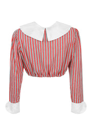 Gretel Blouse Red Stripe
