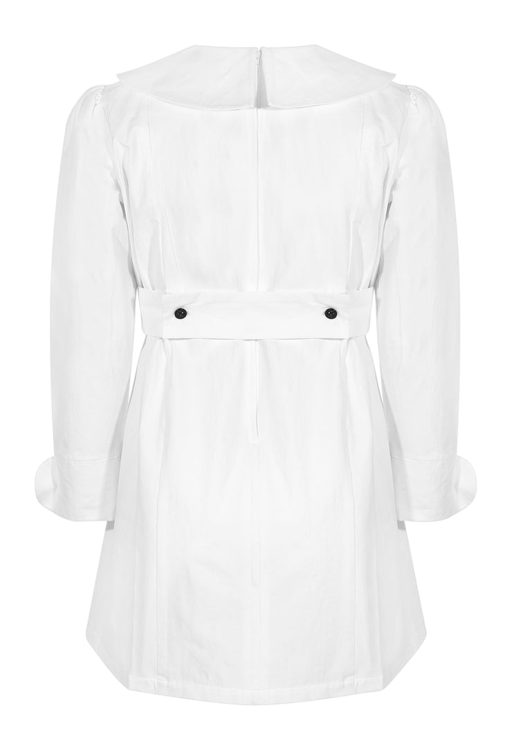 Claudette Dress White