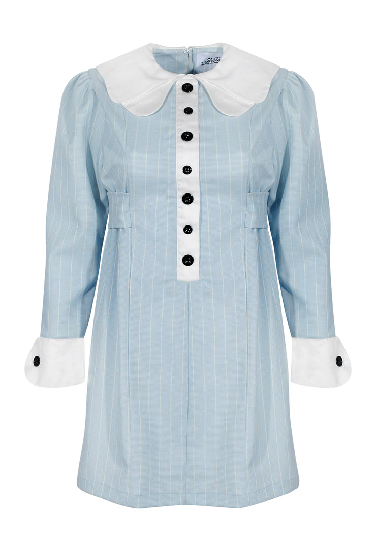 Claudette Dress- Baby Blue