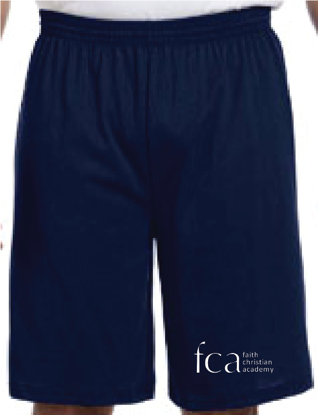 "FCA Long Length Gym Shorts 9"" inseam"