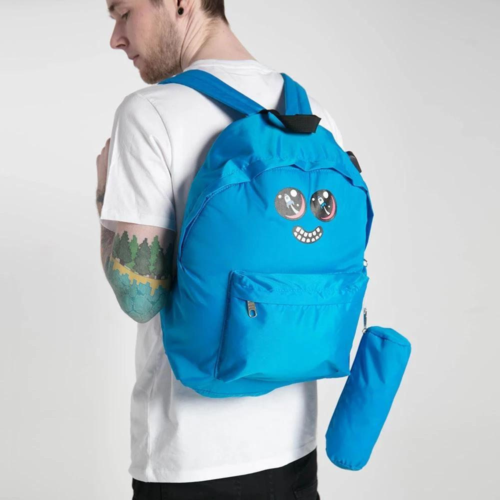 DanTDM Blue Backpack & Pencil Case - Rocket Blast Eyes
