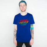 DAN TDM GRAFFITI RAINBOW T-SHIRT - ROYAL