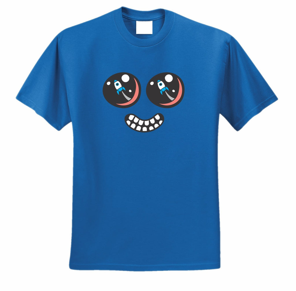 ROCKET EYES FACE T-SHIRT - BLUE