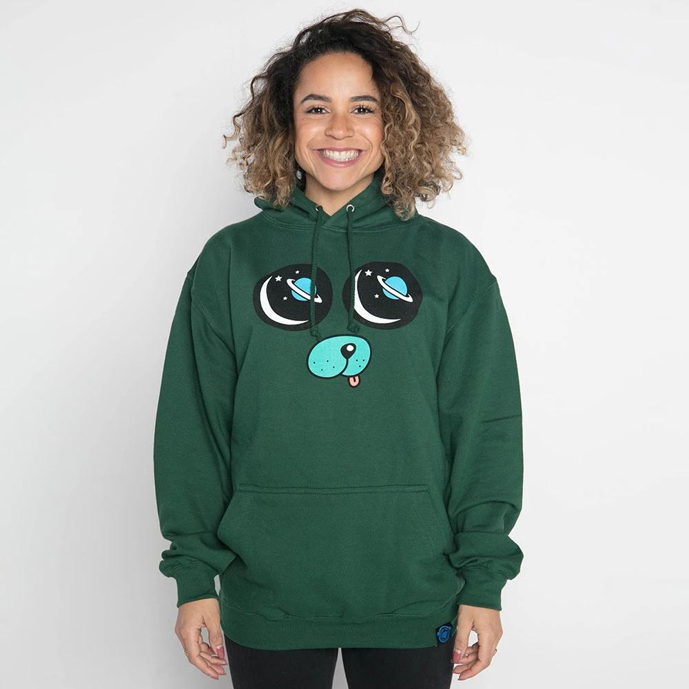 DanTDM Bottle Green Hoodie - Saturn Eyes Pug Face