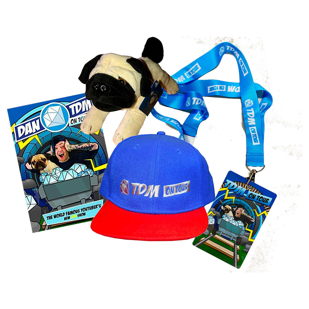 Special Limited Package Dan TDM Plush Pug, DVD, Lanyard and Cap