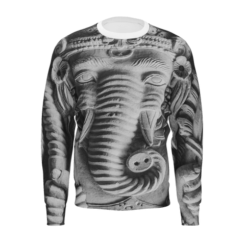MADE WITH LOVE- BLACK & WHITE GANESH -  SWEAT SHIRT FOR MEN - Soul of The Gypsies