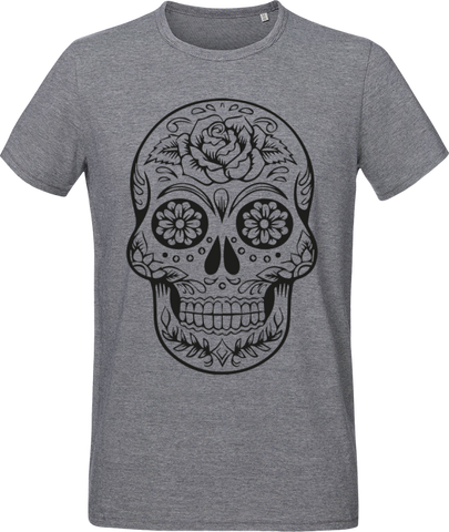 MEXICAN DEAD HEAD _ T-shirt Men Micro Stripes Stanley Roots - Soul of The Gypsies