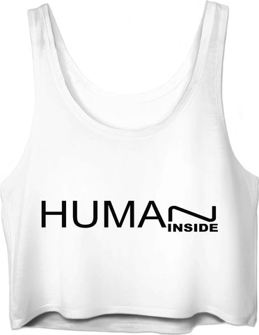 MADE WITH LOVE - HUMAN INSIDE _ Crop Top - Soul of The Gypsies