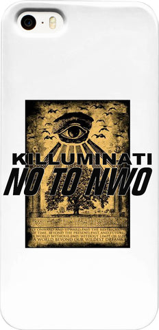 KILLUMINATI _ NO TO NWO EYE V.5   _ iPhone Case - Soul of The Gypsies