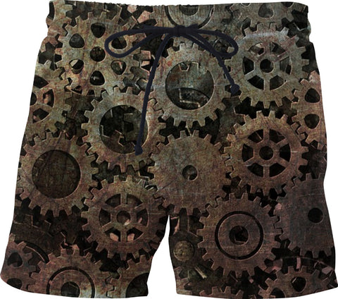 Soul of The Gypsies _STEAMPUNK MODEL    _ Swim Shorts - Soul of The Gypsies