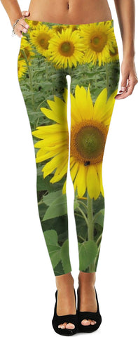 MADE WITH LOVE _ photo By artist ENymART ( Switzerland ) SUNFLOWERS Leggings - Soul of The Gypsies