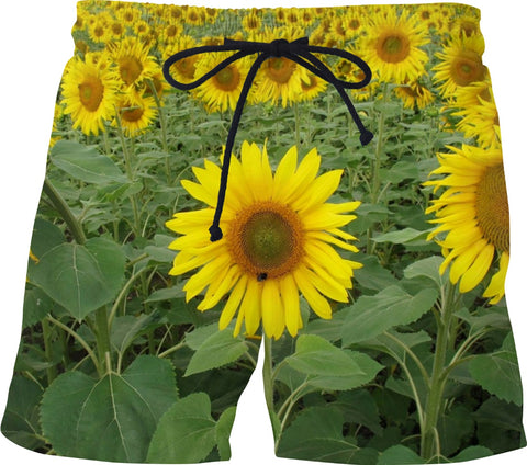 MADE WITH LOVE _ photo By artist ENymART ( Switzerland ) SUNFLOWERS Swim Shorts - Soul of The Gypsies