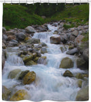 MADE WITH LOVE _ photo By artist ENymART ( Switzerland ) WATERFALLS Shower Curtain - Soul of The Gypsies