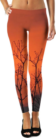 MADE WITH LOVE _ photo By artist ENymART ( Switzerland ) RED SKY Leggings - Soul of The Gypsies