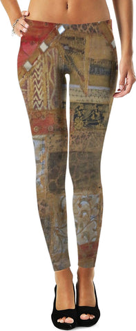 MADE WITH LOVE _ Painting By artist ENymART ( Switzerland ) Leggings - Soul of The Gypsies
