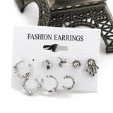 Jewelry 8pcs Earring set Color Vintage Silver Tribal  Handmade For Women - Soul of The Gypsies