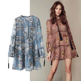 Women Bohemian Summer Floral Print Long Sleeve Sexy Dress Design Hippie Chic Chiffon Dress - Soul of The Gypsies