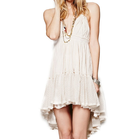 Sexy Hippie Chic Summer Dress 2018 Bohemian Women Mini Dress Backless Boho Strapless - Soul of The Gypsies