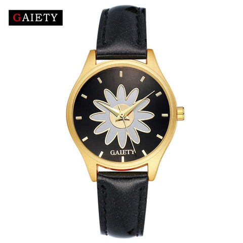 Watch Quartz Woman - Flower design - Dress Bracelet PU Leather - Soul of The Gypsies