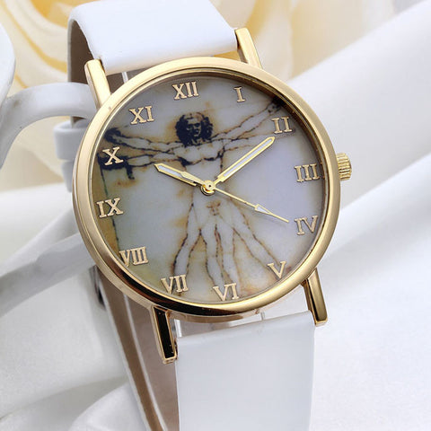 Fashion Retro Style Dial Leather Band Quartz Analog Watches - Soul of The Gypsies