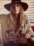 Boho embroidered floral sexy white shirt hippie chic ethnic people women blouses shirts - Soul of The Gypsies