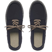 Load image into Gallery viewer, Boat Shoes (Black/Natural)