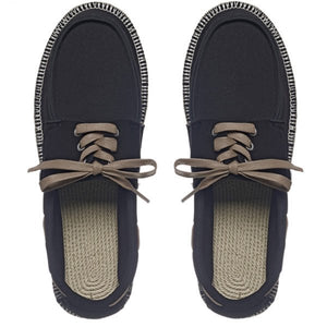 Boat Shoes (Black/Natural)
