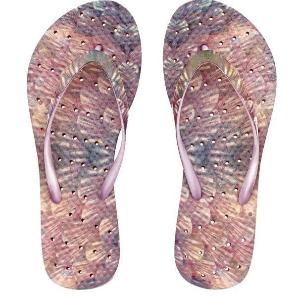 The best shower sandals for function and style. This is the Mermaid by Showaflops