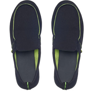 Slip On Loafers (Black/Lime)