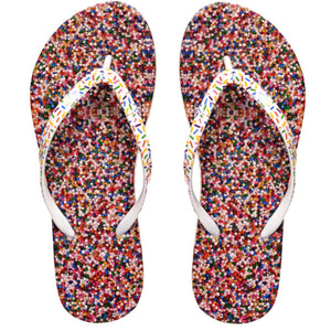 Image of shower, non-skid flip flops by Showaflops | Sprinkles design