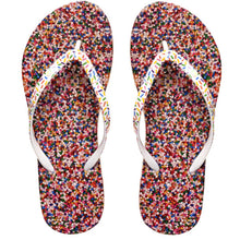 Load image into Gallery viewer, Image of shower flip flops by Showaflops | Sprinkles design