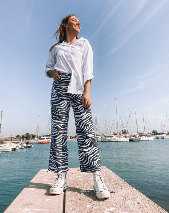 Zebra Pants (Black)