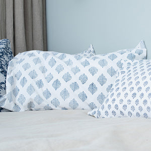 Pillowcase | 40x70 | White & Denim blue #3