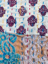 Load image into Gallery viewer, Patchwork & Embroidery kantha quilt | 225x270