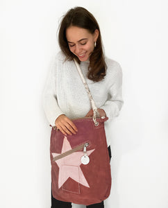 Ali Lamu | Double zip bag L | Pink | Star in pink