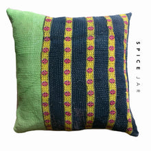 Load image into Gallery viewer, Vintage kantha cushion