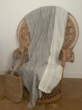 Load image into Gallery viewer, New blockprint kantha quilt | Double size 220x250cm | Cream & light grey color